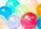 Stock Image : Close Up of balloons in various colors