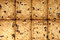Stock Image : Close up of delicious raisin cookies background