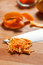 Stock Image : Closeup of chopped orange peel