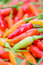 Stock Image : Closeup of  colorful fresh  peppers group
