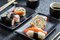 Stock Image : Closeup of sushi for two people