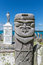 Stock Image : Closeup of totem pole at St Maurice memorial on Île des Pins