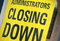 Stock Image : Closing down sign