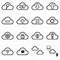 Stock Image : Cloud computing network icons