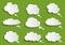 Stock Image : Cloud speech bubble collection