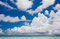 Stock Image : Clouds above the beach in the Indian Ocean