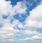 Stock Image : clouds in the blue sky