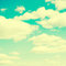 Stock Image : Clouds and sky, vintage retro style