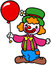 Stock Image : Clown with balloon