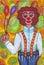 Stock Image : Clown with big pants