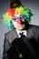 Stock Image : Clown businessman