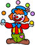 Stock Image : Clown playing ball