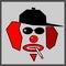 Stock Image : Clown smoking cigarette