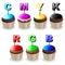 Stock Image : CMYK RGB Cupcakes Colors Palette