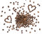 Stock Image : Coffee beans hearts