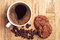 Stock Image : Coffee and chocolate cookies