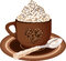 Stock Image : Coffee cup with whipped cream