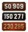 Stock Image :  Coleção do número do trem