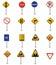Stock Image : Colección de la señal de tráfico