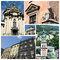 Stock Image : Collage of famous Lvov landmarks (Ukraine),old city center