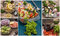 Stock Image : Collage salads of fresh vegetables