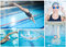 Stock Image : Collage of woman swimming in the indoor pool