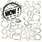 Stock Image : Collection of comic style speech bubbles. Vector.