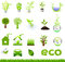 Stock Image : Collection Eco Design Elements, Isolated On White