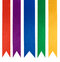 Stock Image : Collection of five different color ribbons