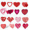 Stock Image : Collection of hearts