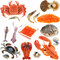 Stock Image : Collection of seafood