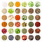 Stock Image : Collection of spices and herbs