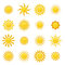 Stock Image : Collection of sun icons