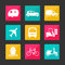 Stock Image : Collection transport icons