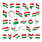 Stock Image : Collection of vector flags of Hungary