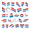 Stock Image : Collection of vector flags of Netherlands