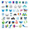 Stock Image : Collection of vector logos books
