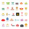 Stock Image : Collection of vector logos crown