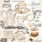 Collection of vintage vector decorative elements tea and coffee
