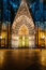 Stock Image : Cologne cathedral facade at night