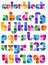 Stock Image : Color Block Abstract Alphabet/eps