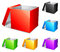 Stock Image : Color boxes.