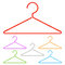 Stock Image : Color hangers.