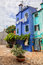 Stock Image : Color houses on Burano island near Venice