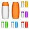 Stock Image : Color shampoo bottles.