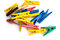 Stock Image : Colored clothespins