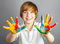 Stock Image : Colored hands