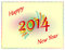 Stock Image : Colored Happy New Year 2014