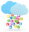 Stock Image : Colorful app icons and cloud