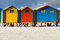 Stock Image : Colorful beach huts at Muizenberg Beach